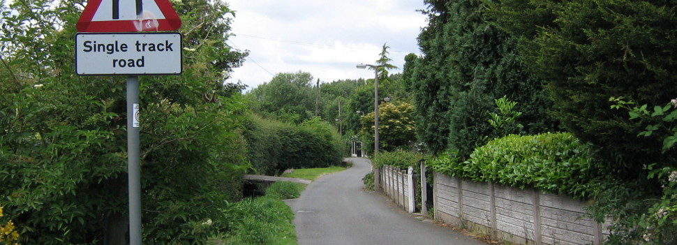 Road leading to Gatley Carrs