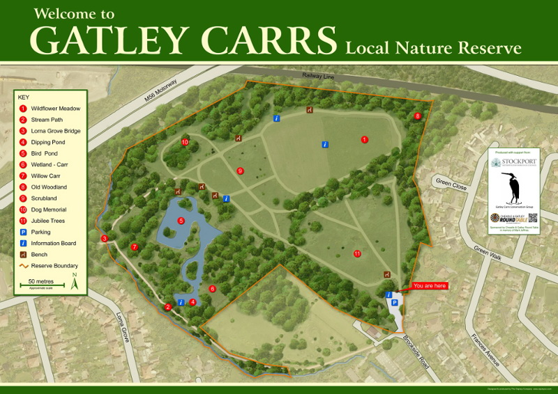 Map of Gatley Cars Conservation Area, Cheshire