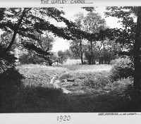 Circa 1920:  Photograph of Gatley Carrs